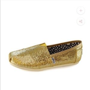 Toms Gold Sequin Shoes